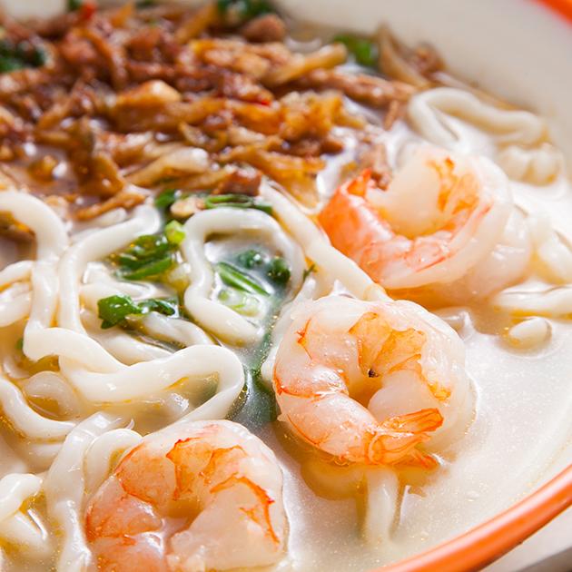 鮮蝦榨菜肉絲麵 2